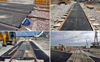 Interlocking RRAPs and Baseplated crossings installed at Tilbury Depot