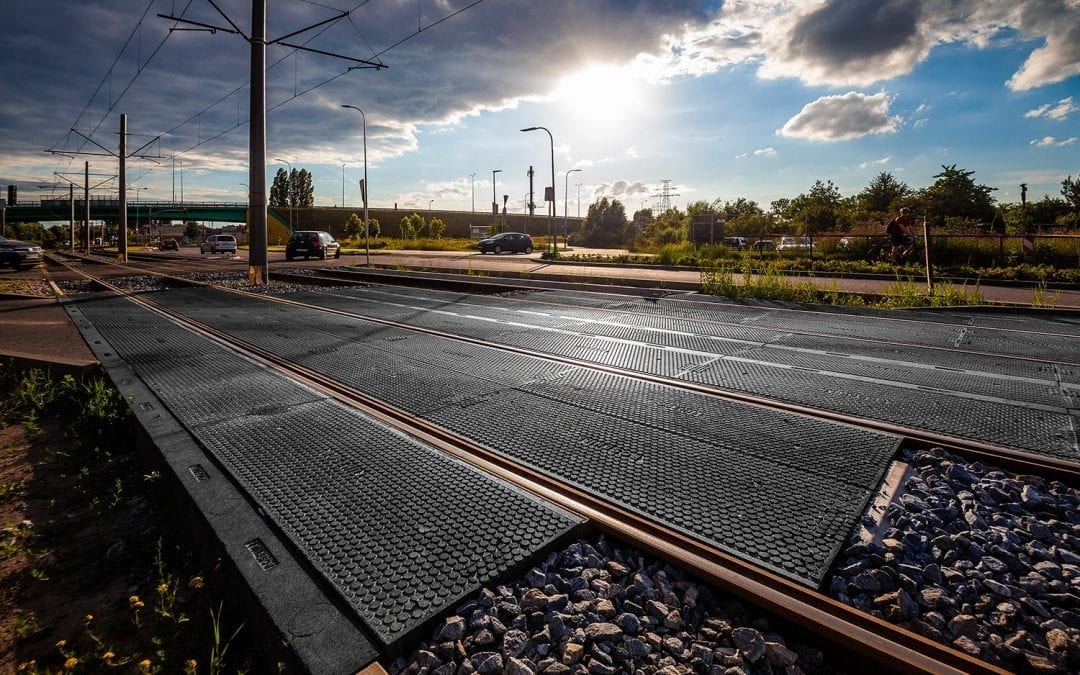 Great Progress made upgrading the light rail network in Gdansk, Poland