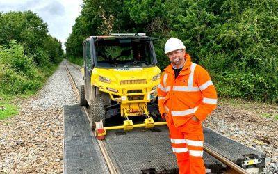 Network Rail Crossing In Okehampton, Devon