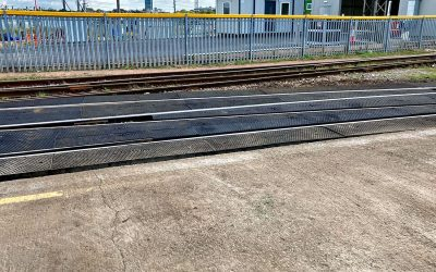 New Baseplated Crossing At Canton Depot In Cardiff